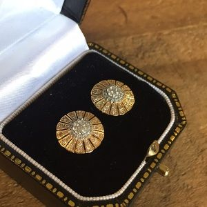 Jewelry - NWOT Diamond and Gold Stud Earrings